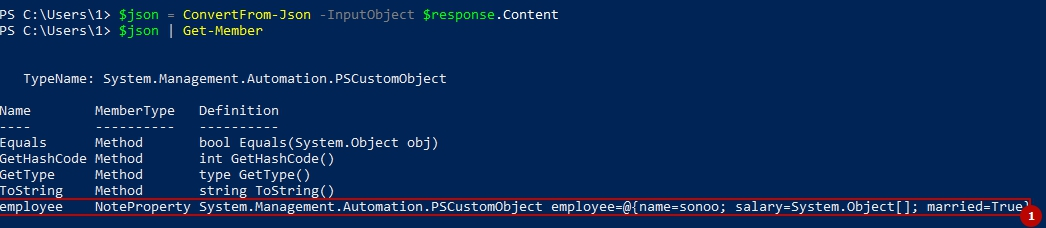 Powershell JSON
